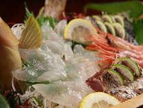 新鮮魚介のお造り例