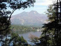 「像の小道」から湖面と妙高山を望む