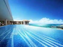 アネックス棟最上階「インフィニティプール(イメージ)」 空と繋がるプールで開放感とともにお寛ぎください