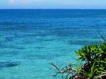 眺めるだけ癒さる 青く静かに輝く沖縄の海