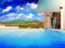 アネックス最上階にあるプールで特別なひと時を過ごしませんか