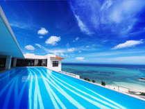 オーシャンビューの絶景 アネックス棟最上階インフィニティプール(遊泳:4月~10月)