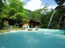 ≪大野天風呂≫初夏!気持ちよく晴れて新緑がまぶしい露天風呂 いよいよ夏を迎える!