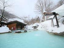 ≪大露天風呂≫冬の混浴露天風呂で雪見露天を満喫