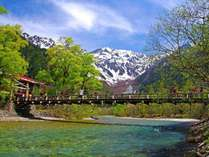 大自然を堪能 上高地河童橋