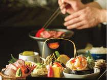 【個室で味わう!お料理重視の方へ】当館人気No1!A4村上牛&日本海の海鮮、のどぐろも堪能。逸品会席