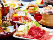 ~逸品会席~村上牛すき焼きや日本海で採れた海鮮を贅沢にたっぷりとご堪能いただける逸品会席。