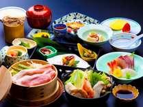 ~ゆもとや会席~新潟銘柄豚「四葉ポーク」と日本海の海鮮が両方お楽しみいただける、ゆもとや会席。