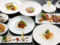 ・フランスと地元、それぞれ季節の美味しい食材を選りすぐり見た目も美しいフランス料理