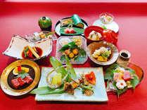 *【夕食一例(松)】京都牛、京湯葉、京都ポークなど地の食材がふんだんに使われた当館の最上級会席です。