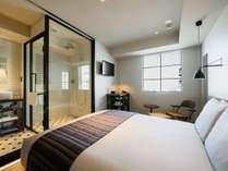 ダブル(キングベッド)レインシャワーのみ(16.68平米)ベッド幅180cm