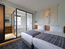 ハリウッドツイン(17.56平米)ベッド幅100cm
