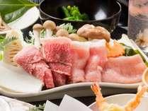 【直前割引】  地元の三大肉のしゃぶしゃぶ+但馬牛ステーキプラン
