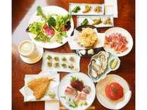 食房miuraオリジナルコース料理をお召し上がりください