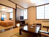 【寛ぎ和室とベッド付き和室★2間続きの山側客室】!