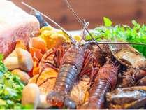 2021年秋のレストラン夕食の食材イメージ