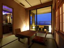 【客室】温泉露天風呂付き和洋室B(4名定員)40平米~46平米