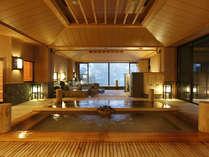 【季の湯】館内にいながら草津温泉の湯めぐりが愉しめる。