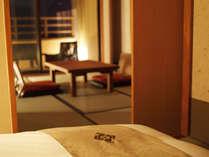 【お部屋】居室と寝室は別々で、和にこだわった癒しの空間