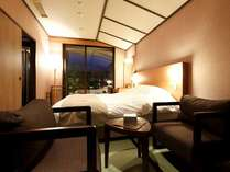 【客室】温泉露天風呂付きダブルルーム(2名定員)24平米