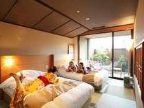 【客室】当館で一番広いお部屋「温泉露天風呂付きデラックススイートルーム」67平米
