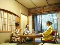 【客室】露天風呂和洋室B(4名定員/40平米~46平米)
