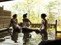 自然を感じる半露天風呂「古の湯」