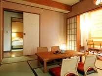 【客室】和室も広く、カップルやご夫婦、ご家族やグループでのご滞在でもゆったりとお寛ぎいただけます。