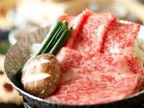 【ご夕食】国産和牛肩ロース しゃぶしゃぶ(一例)