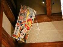 【正月飾り】ロビー天井は大きな凧