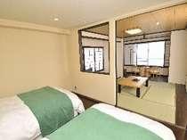 眺望風呂付和洋室 ツインルーム 和室8畳常滑焼湯船
