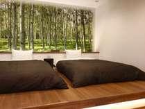 (オナーズヒル18)1階ベッドルーム(セミダブル×2)