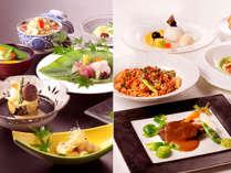 選べる夕食(旬の会席またはイタリアンフルコース) ※イメージ