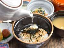 【朝食】☆お茶漬け☆二日酔いの朝におススメです(^▽^)/