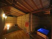 *趣向を凝らした温泉は2つの貸切湯を含め、全7つ。
