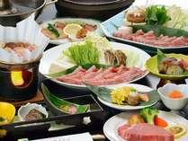 米沢牛をすき焼、しゃぶしゃぶ、フィレステーキ、肉巻結でご堪能ください(食べづくしは半人前になります)の画像
