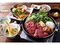 ディナー牛鍋コース(前菜や天ぷらの内容は時期・季節により変わります。)