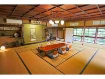 プレミアム和室(24.5畳+縁側14畳)与謝野晶子や高浜虚子が歌会を開いた由緒ある和室です。