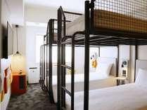 スーペリア4ベッドルーム。ご家族やご友人同士で4名様までご利用できるお部屋です。