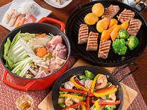 【夕食】豊後牛の中の豊後牛である「豊後牛頂」など他約9品のご夕食。