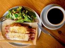 【朝食】とろけるクロックムッシュセット