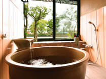 2間続きの客室【元】数寄屋風和室二間+陶器製浴槽+テラス