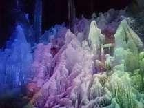 氷点下の森氷ライトアップ