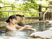 露天風呂一例 山の中にあるので最高の眺め、紅葉、桜、新緑を眺めながらゆっくりと身体を温めてください