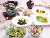 【厳選した季節の食材をふんだんに取り入れた和洋折衷会席料理♪】(イメージ)
