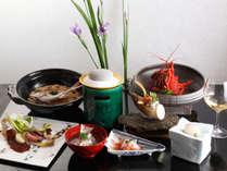 食材は鳴門海峡で獲れる旬の魚介類、徳島で育った野菜などを使用。
