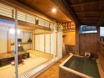 *【露天風呂付和室】当館一番人気のお部屋。好きなお時間に好きなだご入浴いただけます。