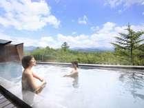 八ヶ岳と星空を一望できる展望露天風呂