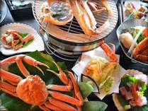 焼きガニ、天ぷら、茹でがになど蟹尽くしでお楽しみください