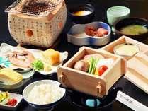 福井のおいしい野菜の蒸篭蒸しほか、手作り豆腐など体に優しい朝御膳♪